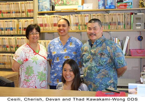 Our team of dentists and assistants in Kaneohe, HI